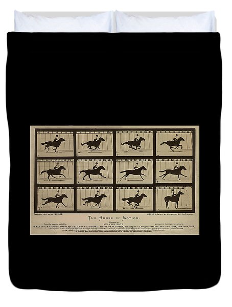 Sallie Gardner At A Gallop - Horse In Motion Duvet Cover