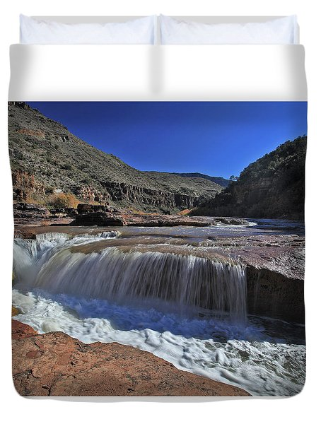Salt Falls Duvet Cover