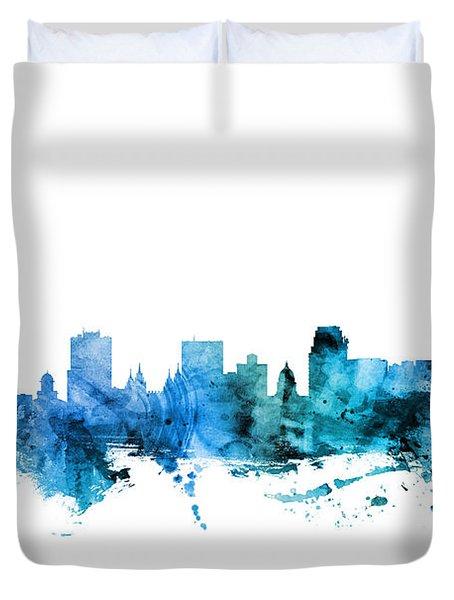 Salt Lake City Utah Skyline Duvet Cover