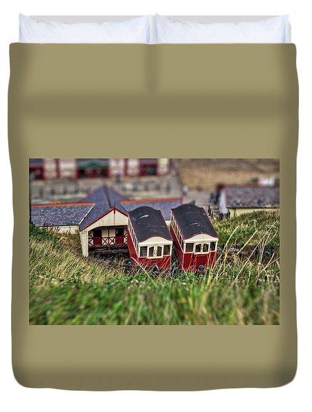 Saltburn Tramway Duvet Cover