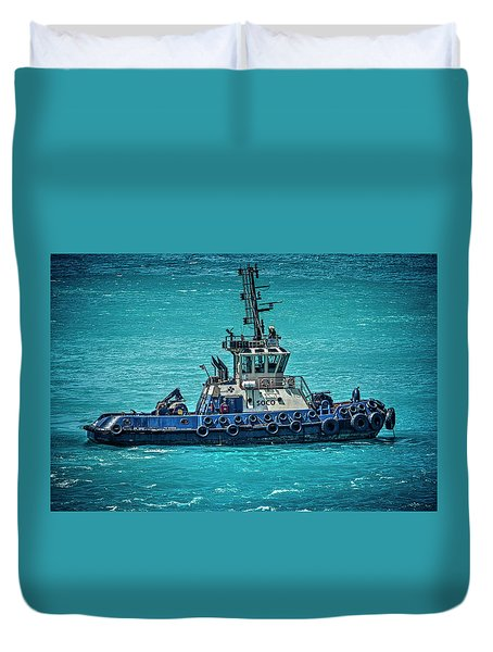 Salvage Tug Boat Duvet Cover