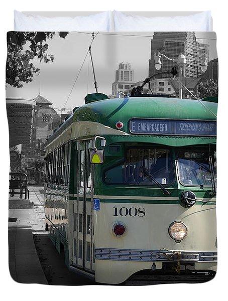 San Francisco - The E Line Car 1008 Duvet Cover