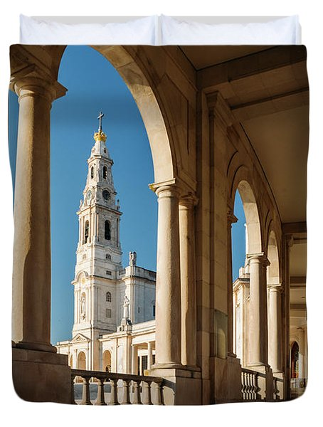 Sanctuary Of Fatima, Portugal Duvet Cover