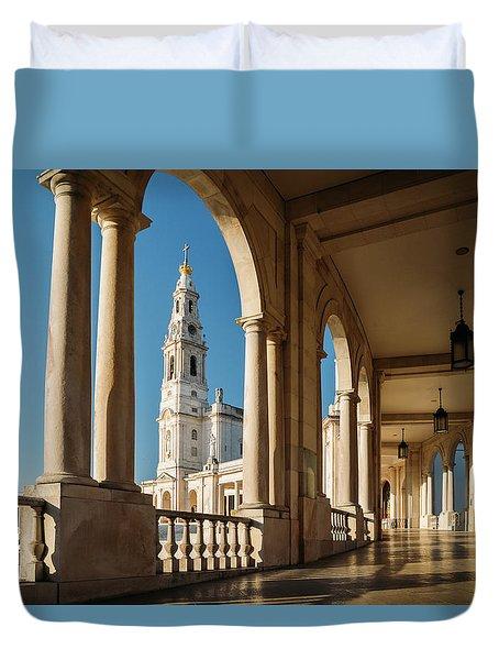 Sanctuary Of Fatima, Portugal Duvet Cover