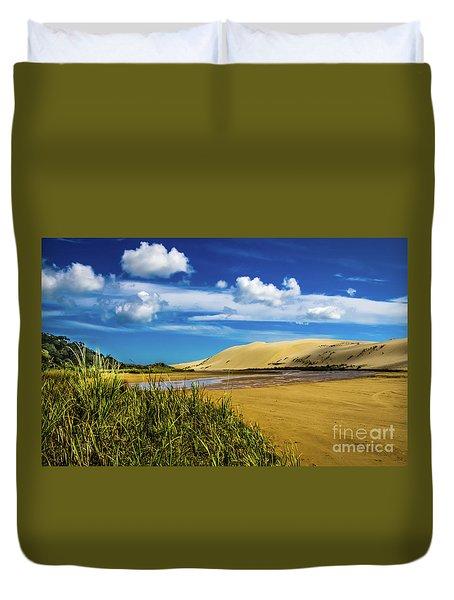 90 Miles Beach, New Zealand Duvet Cover