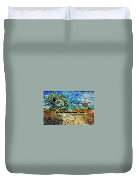 Sand To The Shore Montage Duvet Cover