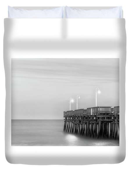 Duvet Cover featuring the photograph Sandbridge Minimalist by Russell Pugh