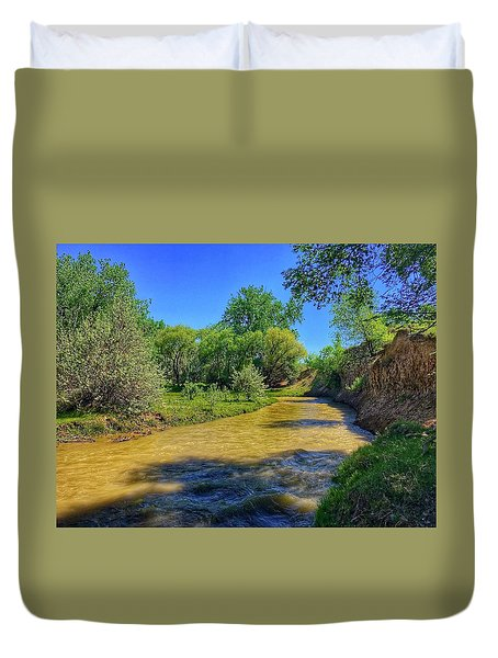 Duvet Cover featuring the photograph Sandhills Summer by Dan Miller