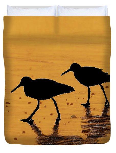 Sandpipers - At - Sunrise Duvet Cover