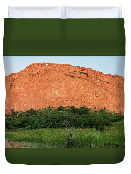 Sandstone Rock Formation Called The Kissing Camels In Colorado Duvet Cover