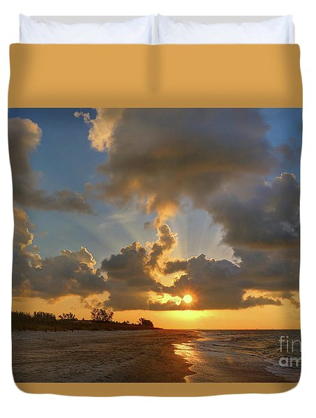 Sanibel Island Sunrays Duvet Cover