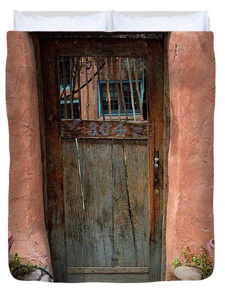 Santa Fe Door Duvet Cover