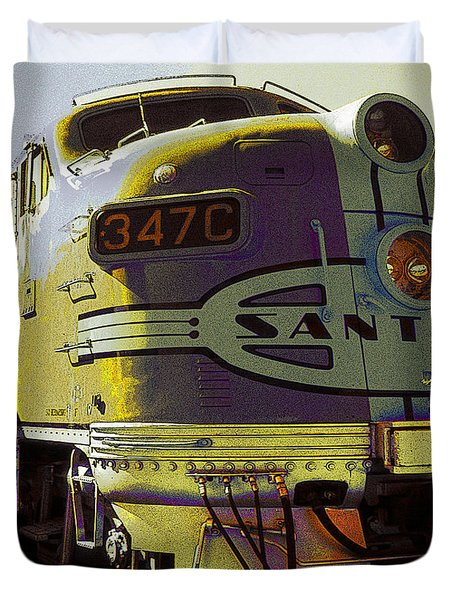 Santa Fe Railroad 347c - Digital Artwork Duvet Cover