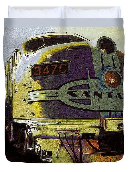 Santa Fe Railroad 347c - Digital Artwork Duvet Cover