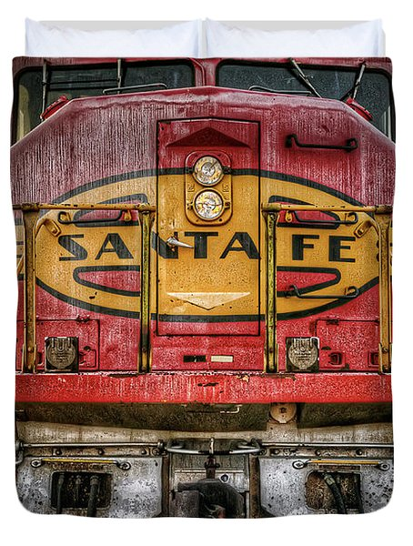 Santa Fe Train Engine Duvet Cover