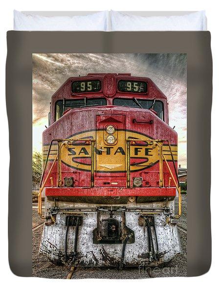Santa Fe Train Engine Duvet Cover