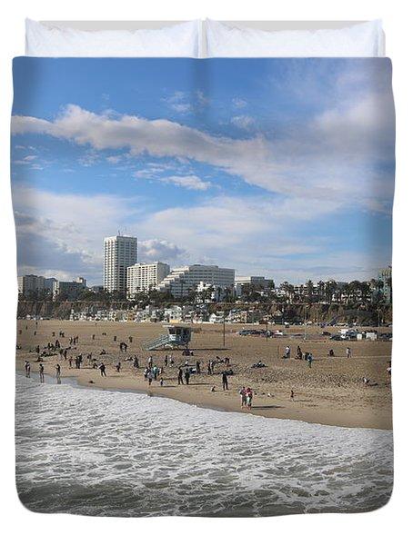 Santa Monica Beach, Santa Monica, California Duvet Cover