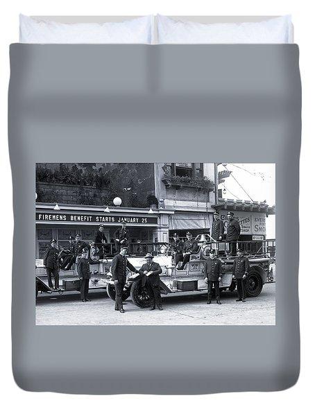 Santa Monica Firemen 1920 Duvet Cover
