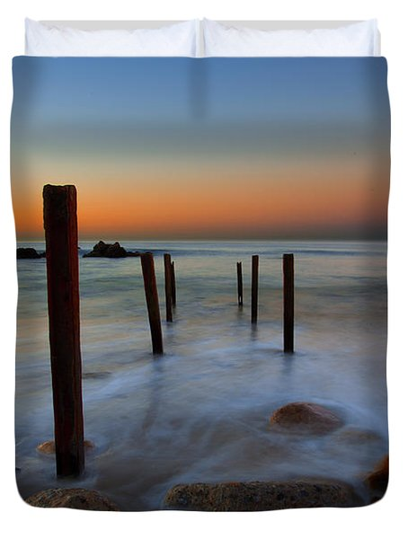 Santa Monica Sunrise Duvet Cover