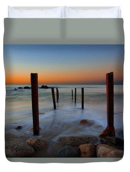 Santa Monica Sunrise Duvet Cover