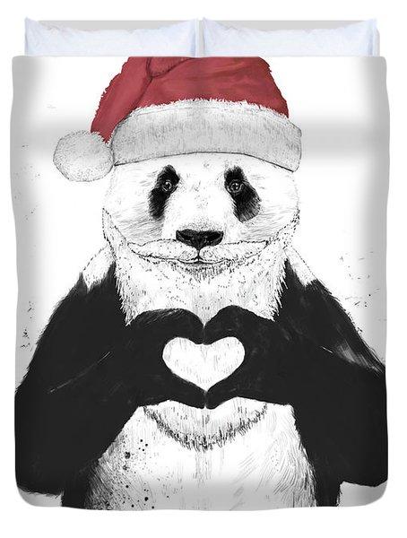 Santa Panda Duvet Cover