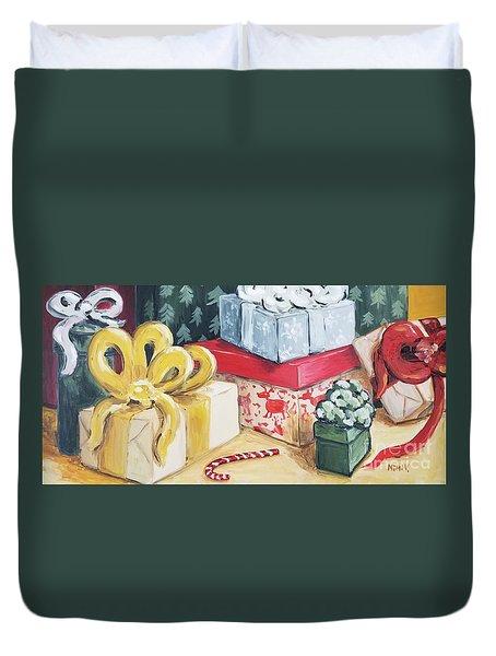 Santa Was Here Duvet Cover