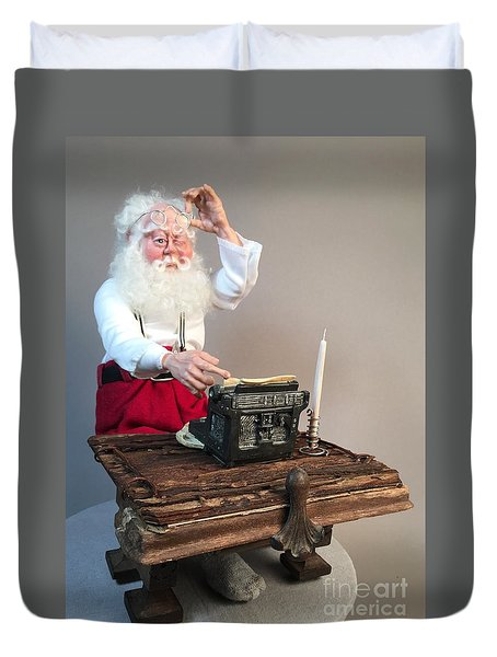 Santas List Duvet Cover