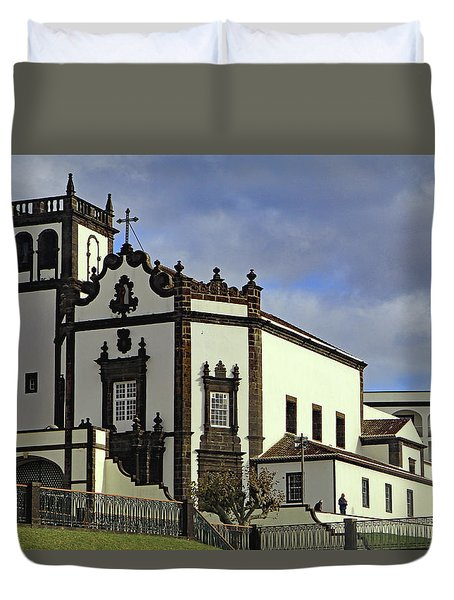 Duvet Cover featuring the photograph Sao Pedro by Tony Murtagh