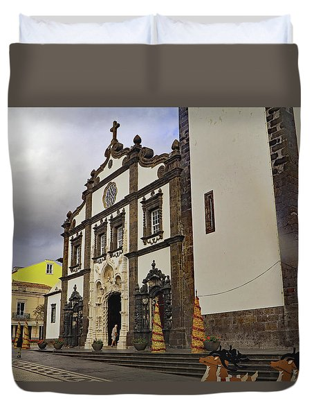 Duvet Cover featuring the photograph Sao Sebastiao by Tony Murtagh
