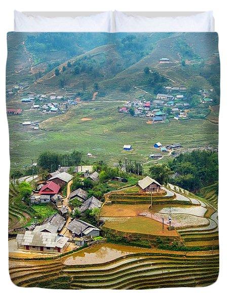 Sapa, Vietnam Landscape Duvet Cover