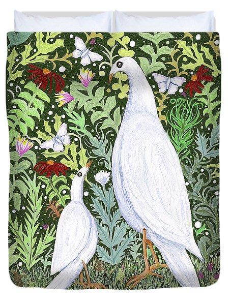 Sapientes Pacis Birds Duvet Cover