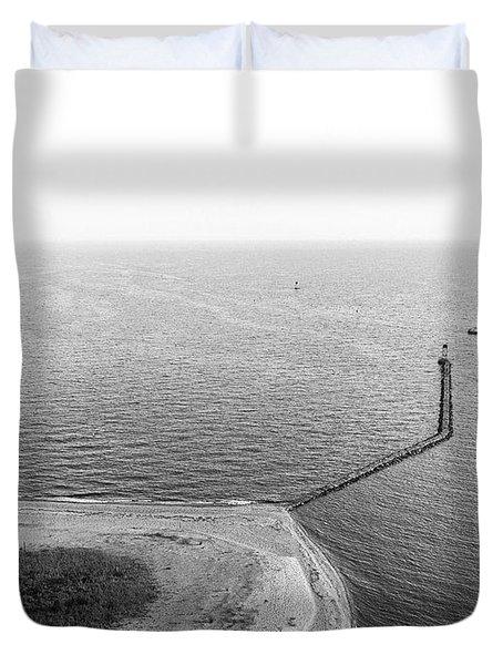 Sasco Beach Jetty Duvet Cover