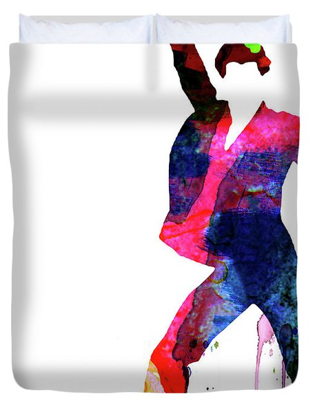 Saturday Night Fever Watercolor Duvet Cover