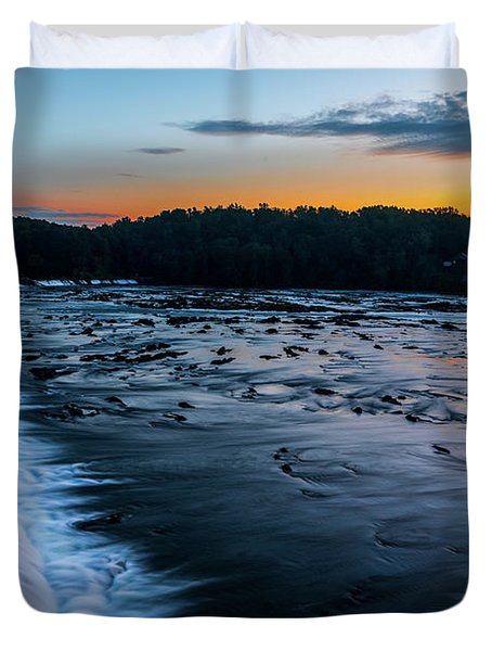 Savannah Rapids Sunrise - Augusta Ga Duvet Cover