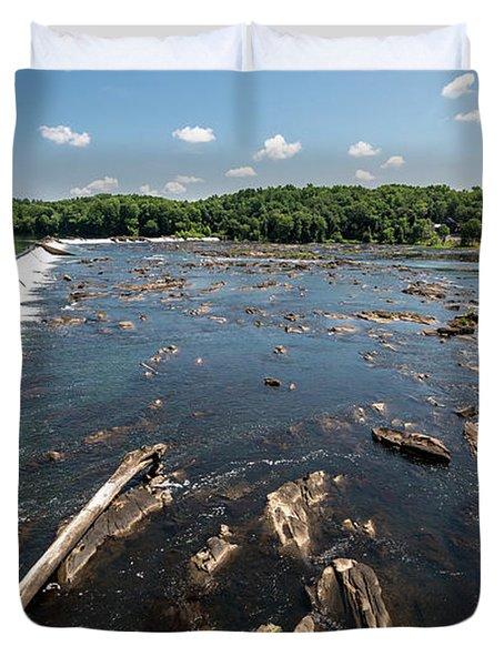 Savannah River Rapids - Augusta Ga Duvet Cover