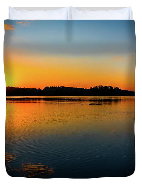 Savannah River Sunrise - Augusta Ga Duvet Cover