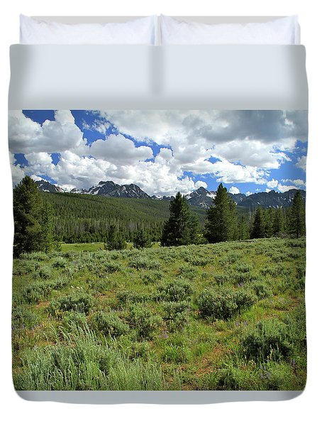 Sawtooth Range Crooked Creek Duvet Cover