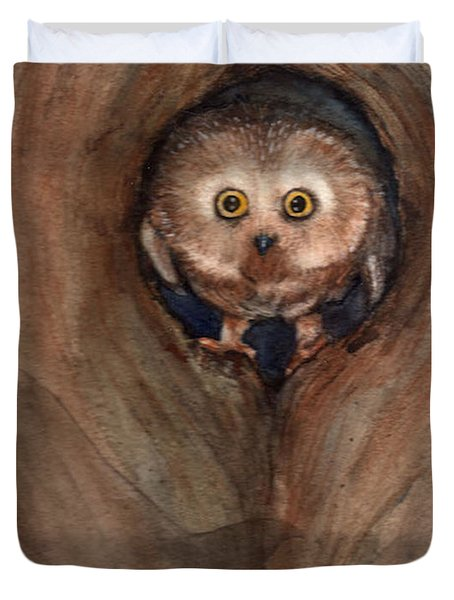 Scardy Owl Duvet Cover