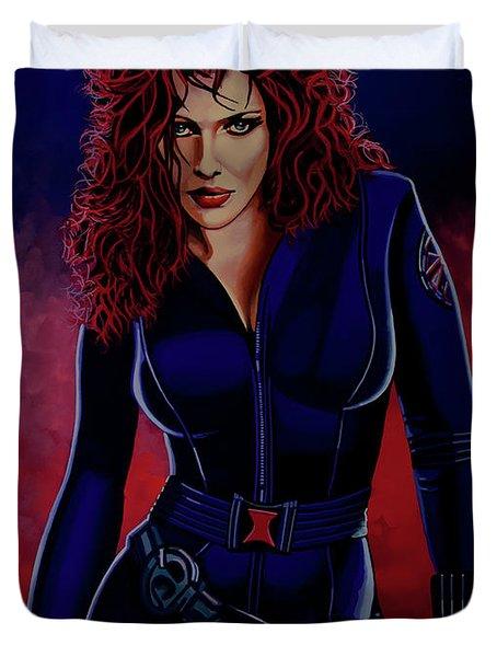 Scarlett Johansson As Black Widow Duvet Cover
