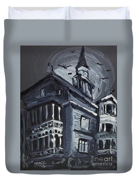 Scary Old House Duvet Cover