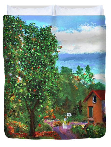 Scene From Giverny Duvet Cover