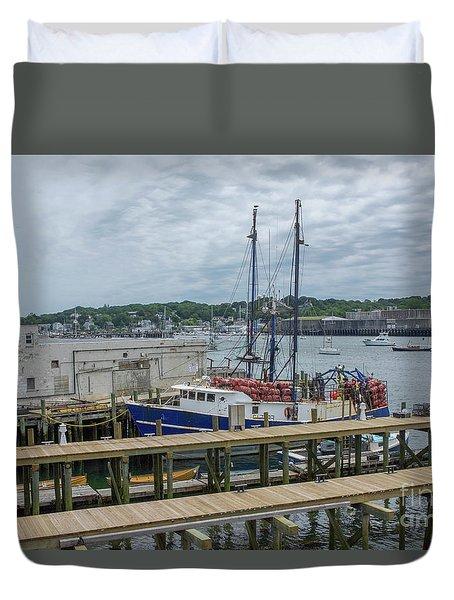 Scenic Harbor Duvet Cover