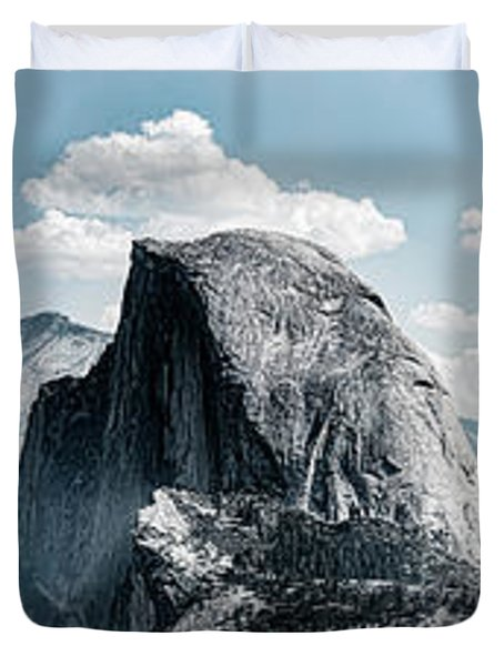 Scenic View Of Rock Formations, Half Duvet Cover