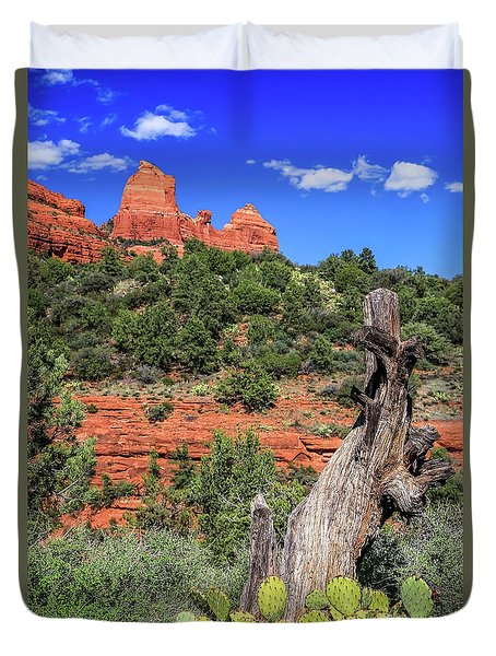 Schnebly Hill View, Sedona Duvet Cover