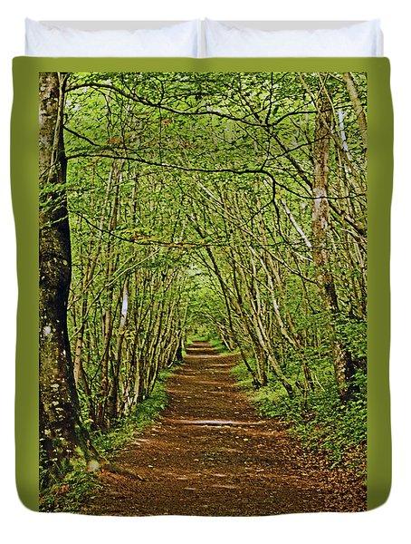 Scotland. Killiecrankie. Path Through The Trees. Duvet Cover