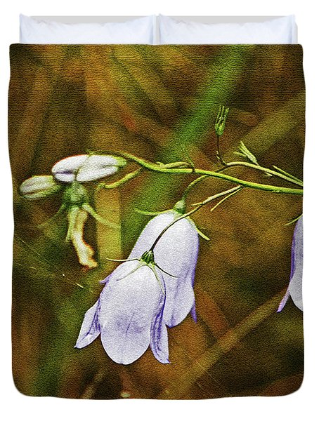 Scotland. Loch Rannoch. Harebells In The Grass. Duvet Cover