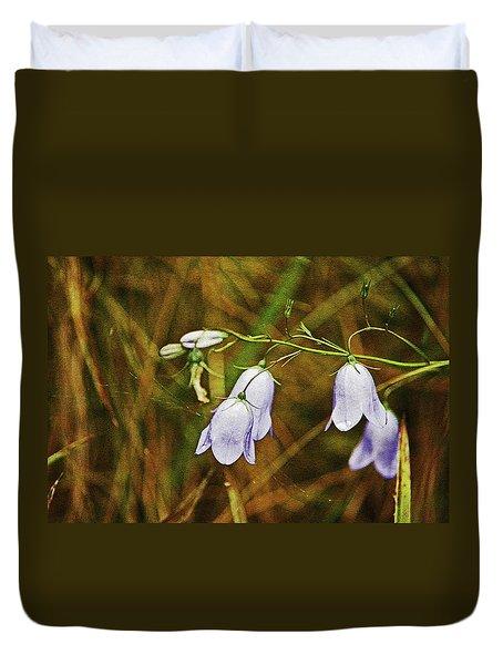 Scotland. Loch Rannoch. Harebells In The Grass. Duvet Cover