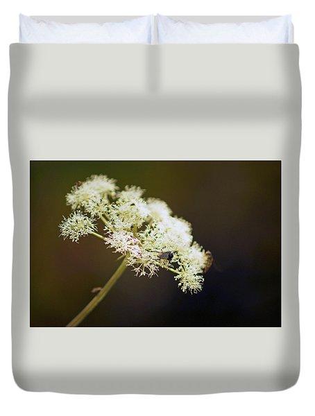 Scotland. Loch Rannoch. White Flowerhead. Duvet Cover