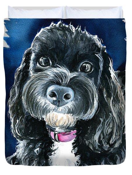 Scout - Cavoodle Dog Painting Duvet Cover