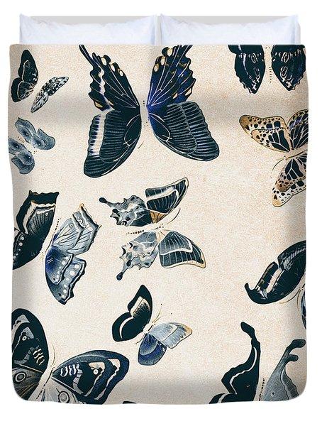 Scrapbook Butterflies Duvet Cover